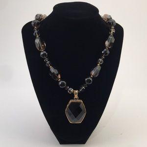 Barse Bronze & Smoky Quartz Necklace